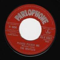 THE BEATLES Please Please Me Vinyl Record 7 Inch Parlophone 1983..